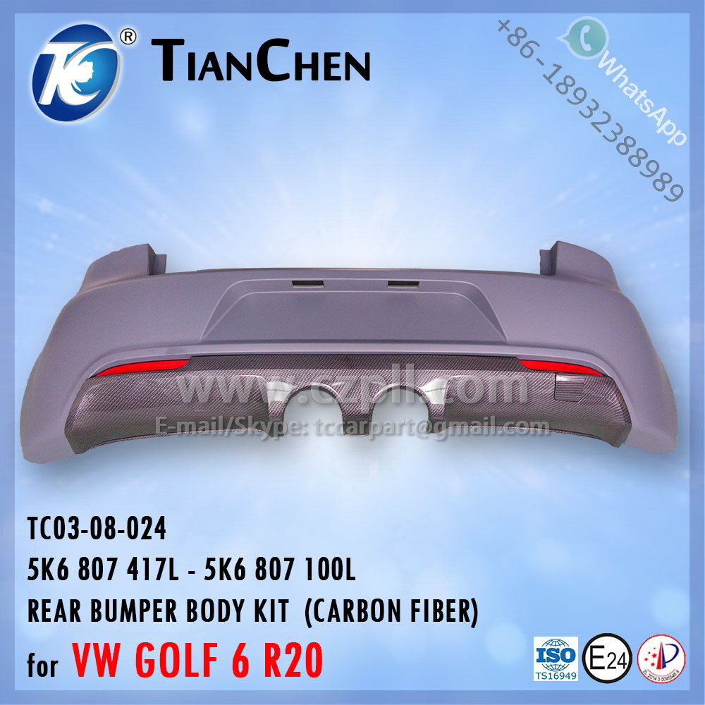 REAR BUMPER BODY KIT for GOLF 6 R20 5K6 807 417 L - 5K6 807 100 L - 5K6807417L - 5K6807100L - 5K6807417 - 5K6807100