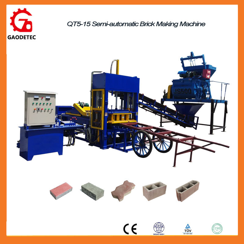 QT5-15 Hydraulic Pressure Interlocking Paver Block Making Machine Price