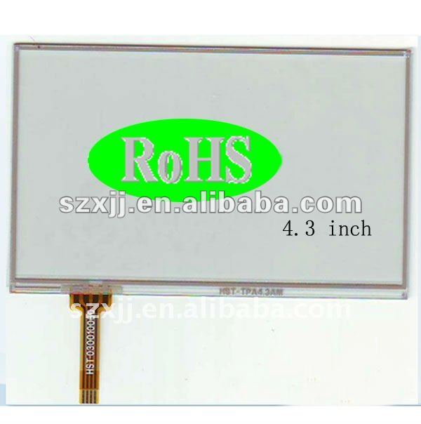 film to glass 4 wire resistive touch screen