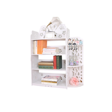 Good price made to order modern pvc white bookshelf portable kids book rack