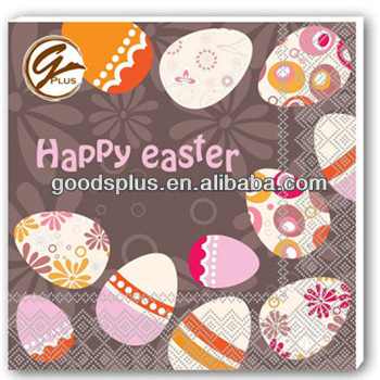 hot saller paper napkin with happy easter series