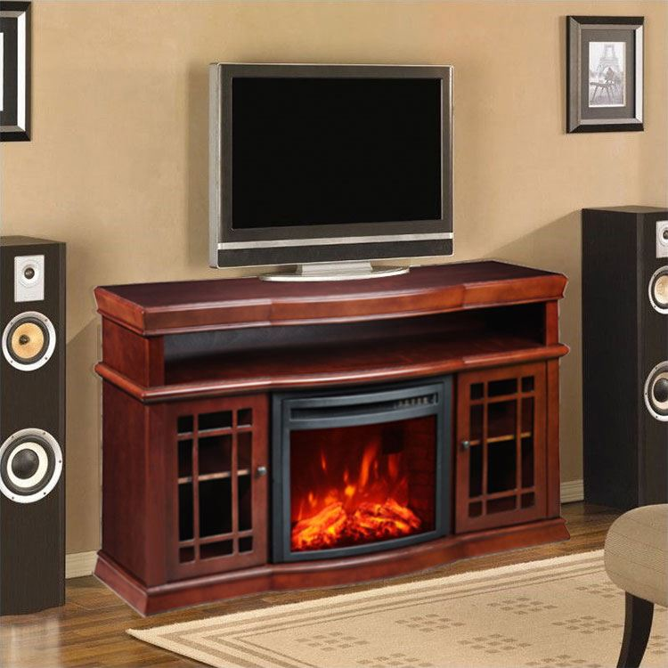 China GS approved fake flame electric fireplace and tv stand