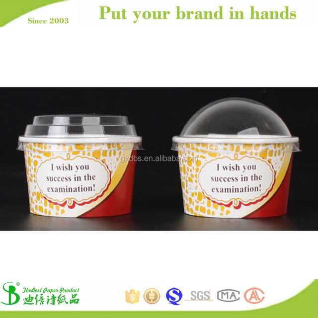 TheBEST high quality waterproof biodegradable ice cream cup paper lid