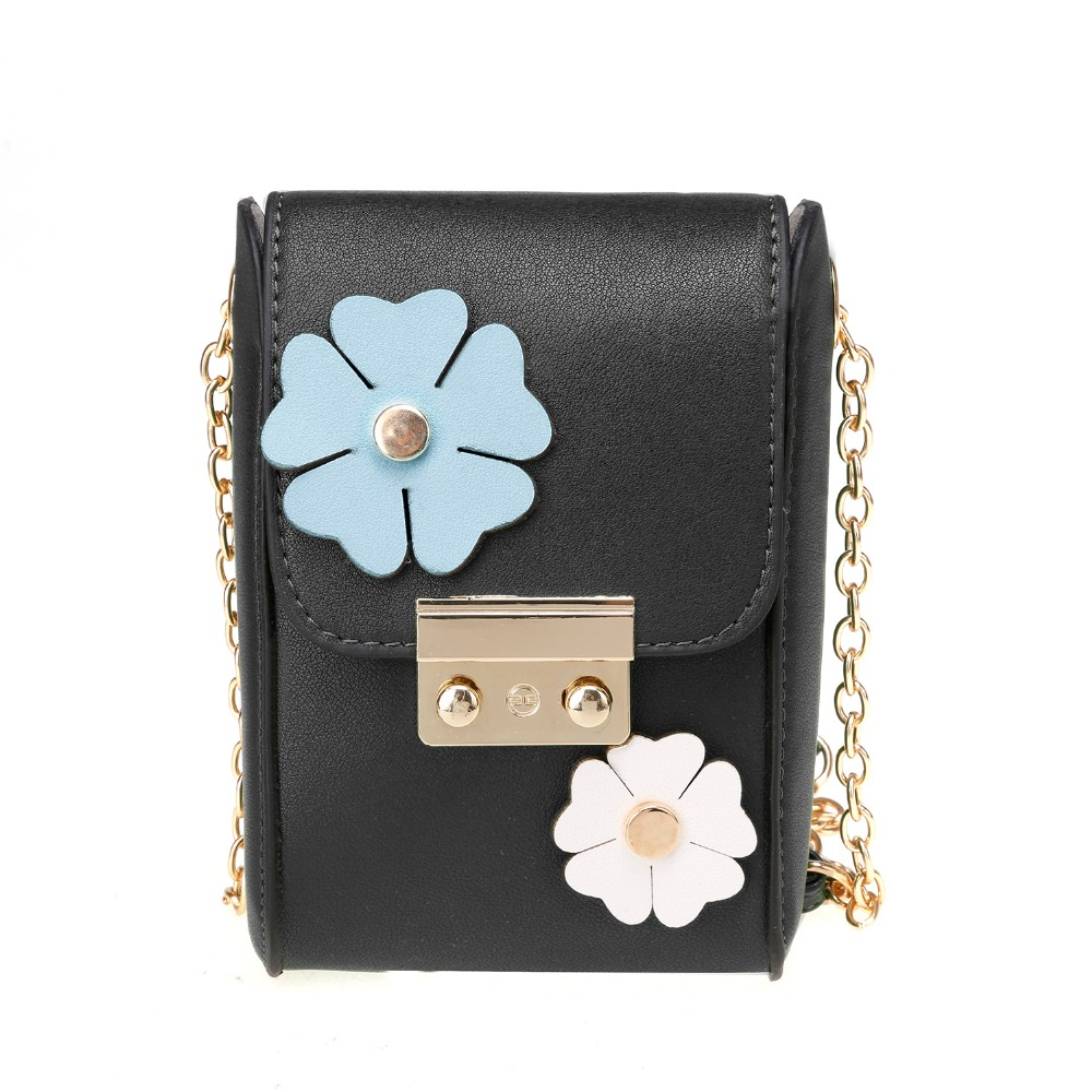 Stylish Flower Decor Flap Closure Cross Bag <strong>Shoulder</strong>