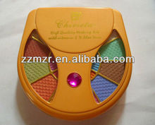 Orange inlay plastic crystal with top-quality containing various of cosmetics makeup sets