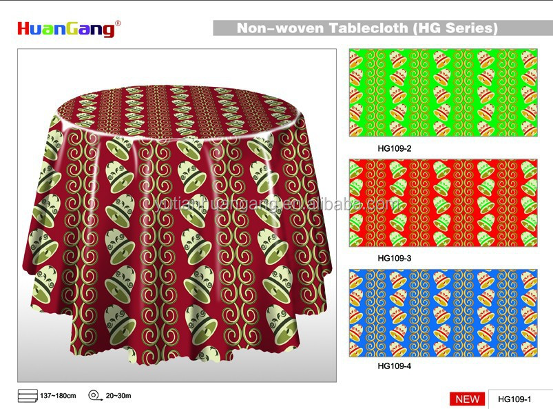 hot sales round Christmas oilproof tablecloths