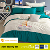 Modern burj al arab design color patchwork used hotel bed sheets sets