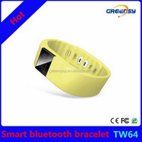 GR-TW64 2015 new android smart bracelet sport bluetooth watch with sleep monitoring/walking/drinking/calorie