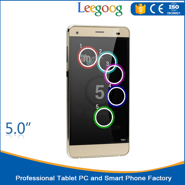 5 inch customized quad core 3G Android 4.4 smart mobile phone