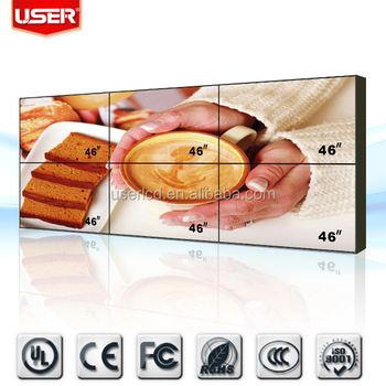 46 Inch LED tv wall 2 x 3 for Advertising and monitoring