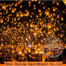 Chinese handmade round paper lantern wholesale biodegradable sky flying paper lanterns