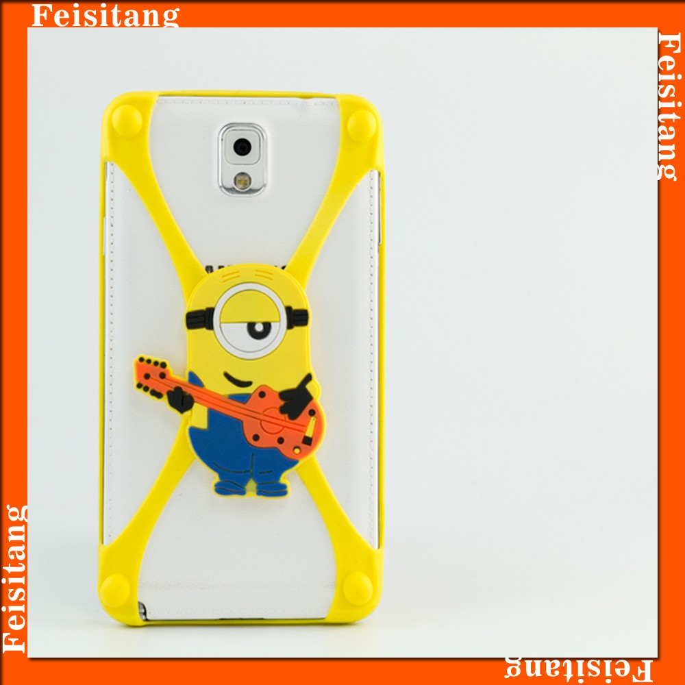 yellow cartoon characters bumper phone case,universal hot selling silicone mobile phone case 3d silicone phone case