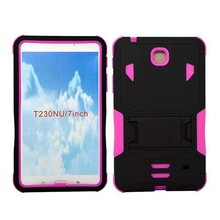 PC& Silicone Rubber Combination Tablet PC Case For Samsung Galaxy Tab 4 7.0 T230NU Case