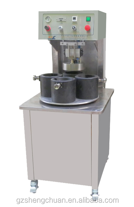 Semi automatic twist off cap/glass jar/lug cap vacuum capping machine