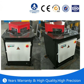 Square metal box hydraulic V angle cutting nontching machine in stock