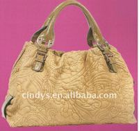 T10726 mini fur tassle tote bag