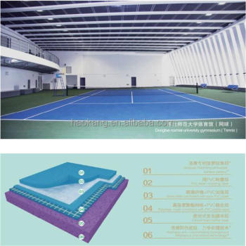 Multi Functional PVC Tennis Flooring with High Performance