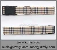2015 Stylish pet products tan plaid martingale dog collar