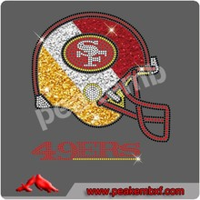 Rhinestone transfer designs Sports helmet 49ers for women