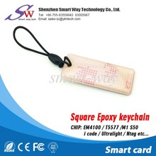 2016 New product Expoy keychain access control card with t5577
