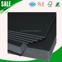 wholesalers black paper with free sample for hard book cover paper sheet