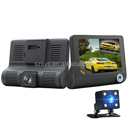 FHD 1080p 170 Degree Wide Angle Dual Channel Dashboard Camera Recorder Car Dash Cam with Rear Camera G-Sensor WDR Loop Recording