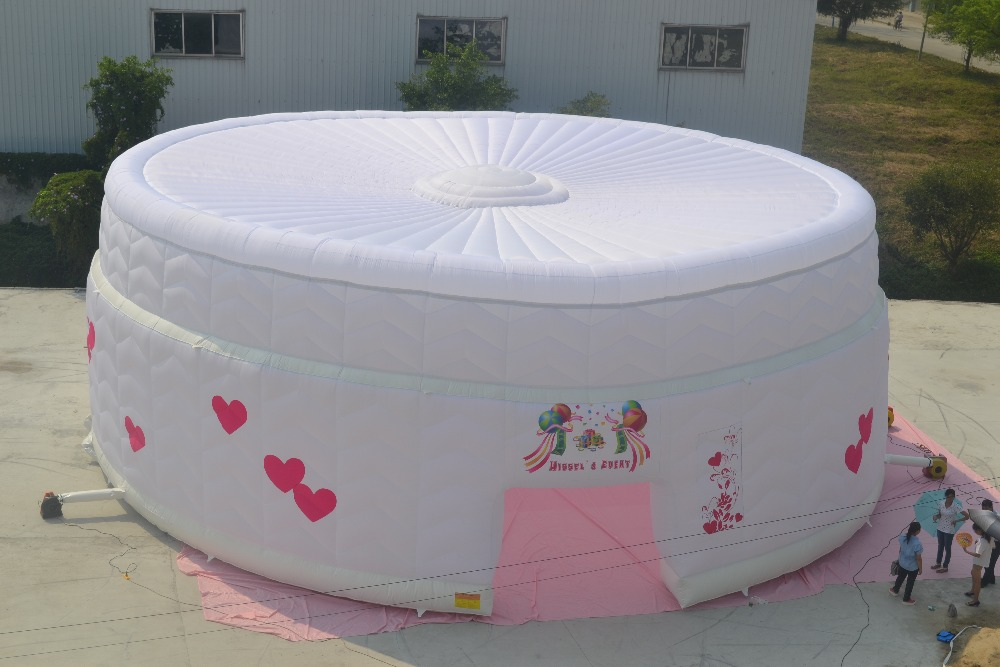 New Products Outdoor Inflatable Cube Tent Big White Wedding Tent
