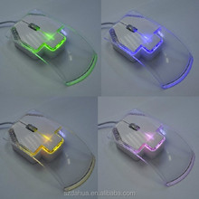 New Optical Gaming Mouse ABS transparent Led Mouse