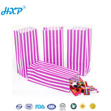 Cardboard box 1-Layer SBB Fancy twisted handle pink candy stripe box