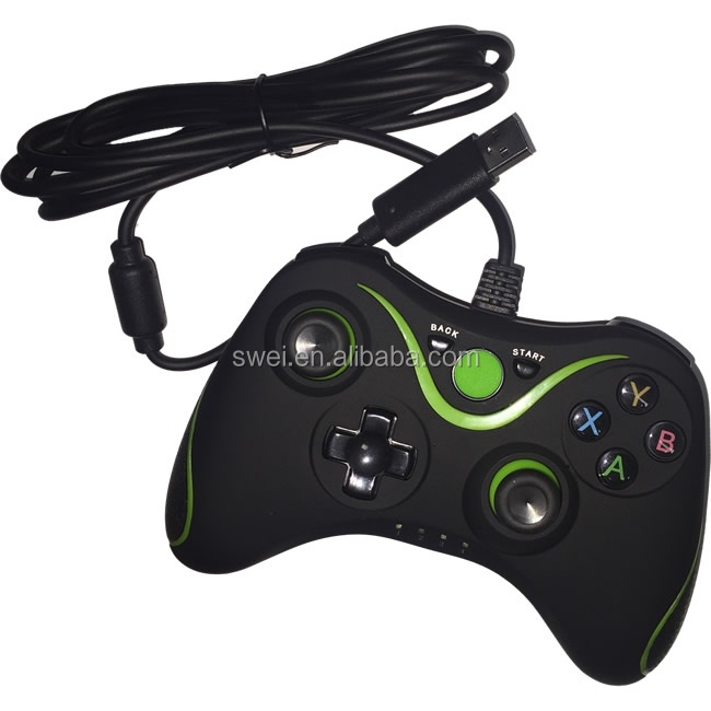 Dropshipping OEM Wired Gamepad For XBOX One And PC--Black & Green