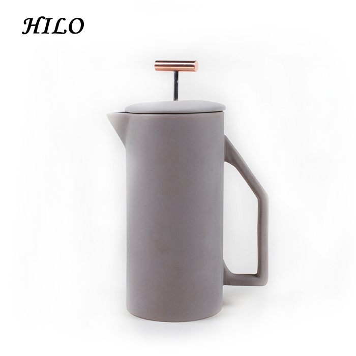 Customized 1000ml Ceramic French Coffee Press