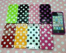 New Design Fashion TPU Gel cover Polka Dots case for iPhone 5