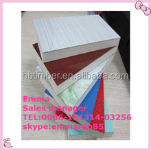 high quality Glue E0 E1 E2 P2 Blue Melamine Laminated Chipboard/cement bonded particle board in China