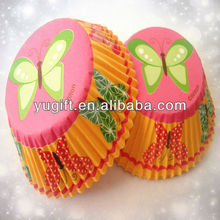 New! Wholesale Lime Green Butterfly Pink Orange Polka Dots Butterfly Pink Sweet Dessert Cupcake Baking Cup Liners