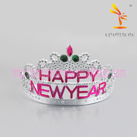 Happy New Year Plastic Tiara Crown Hair Hoop Party Decoration