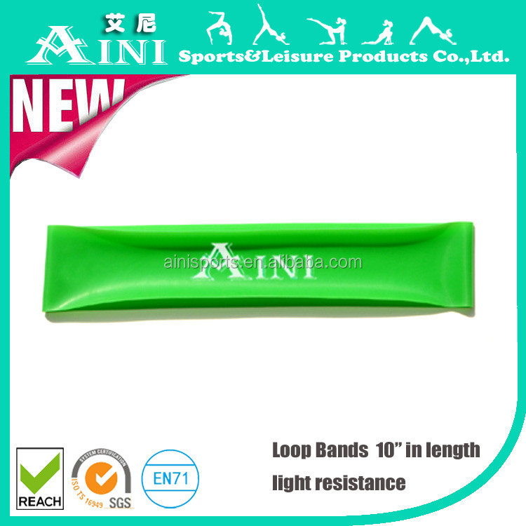 10 inches long Latex hook and loop,therapybands,resistance band loop for fitness exercise