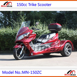150cc Gas Petrol Trike Motorcycle Tricycle Scooter with CVT Clutch Automatic Gears