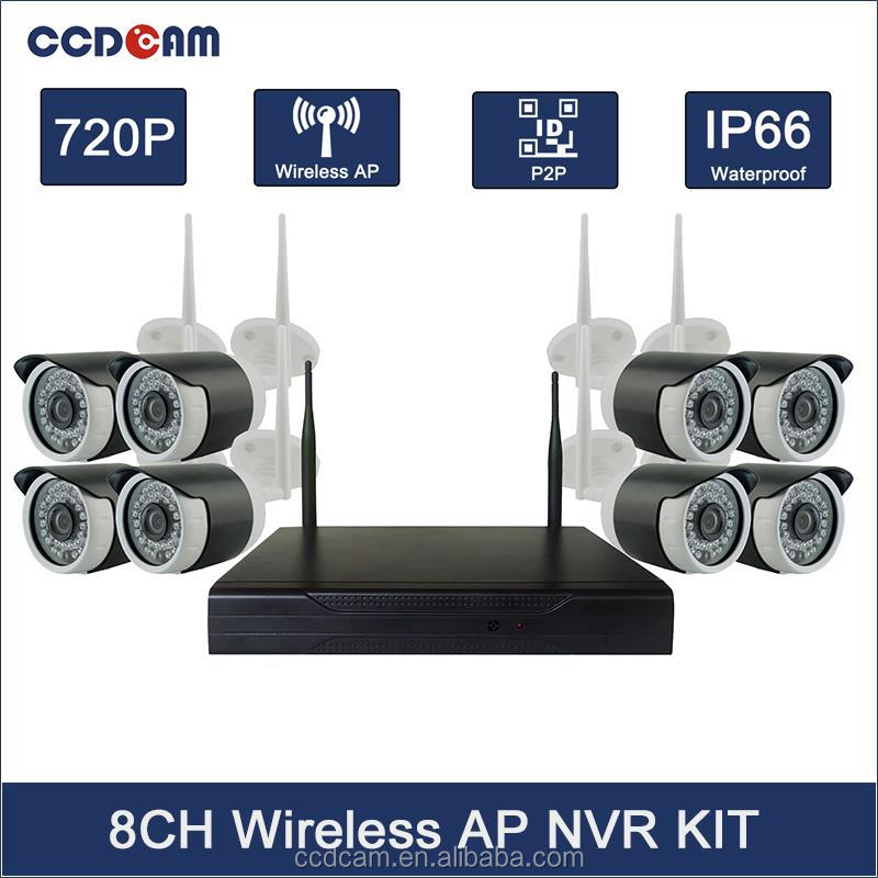 8CH 720P WIFI IP Camera Outdoor Mini NVR Kit Onvif P2P Night Vision Megapixel Wireless Video Camera