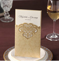 2015 Hot Selling Fashionable Gold Wedding Invitations Wholesale Prices