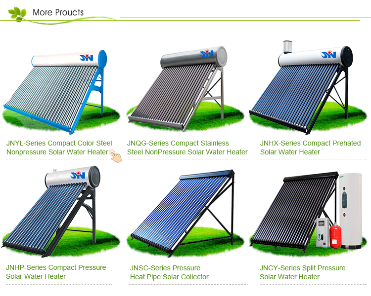 New Design Low Pressure Portable Solar Power Water Heater System