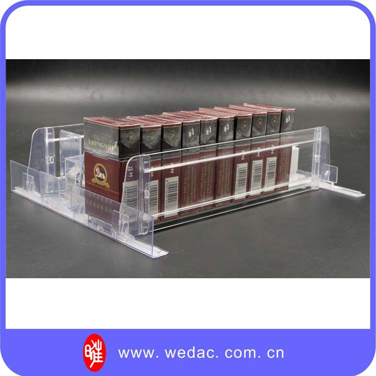 Retail Store Auto-fronting Pusher, Adjustable Clear Acrylic Shelf Divider For Sale
