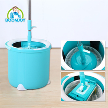 HOT SALES 360 DEGREE MAGIC TWIST SPIN MOP WITH 2 MOP HEADS(FLAT HEAD & DISH HEAD) AND SINGLE BUCKET
