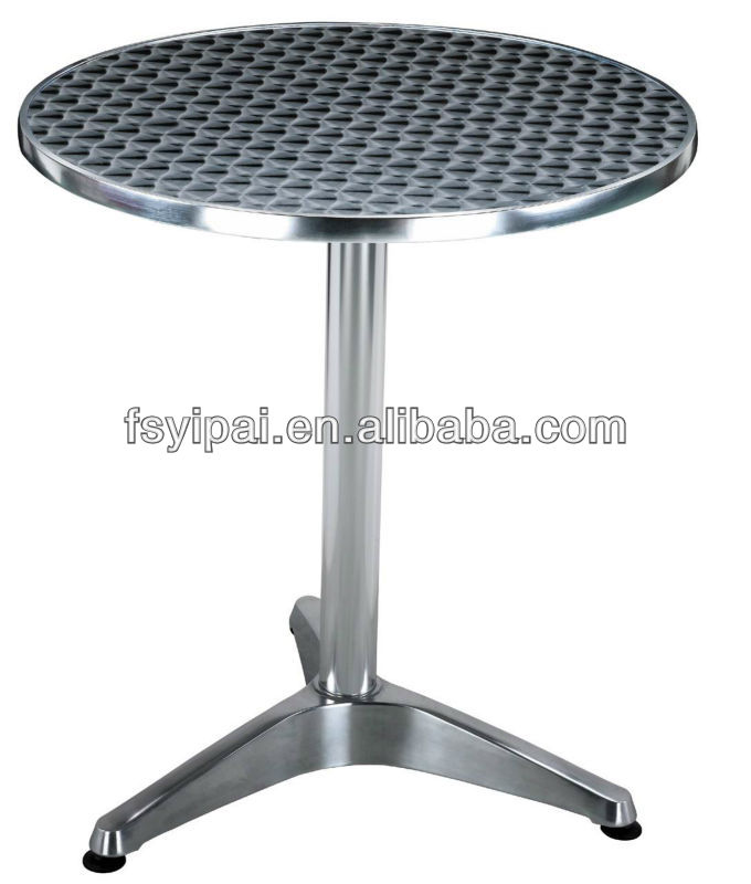 Steel Stainless Steel Meeting Coffee Table For Coffee Shop Round