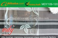 clear tempered glass plate with decoration