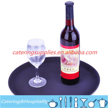 Round non-slip PP plastic bar restaurant Food Serving Tray