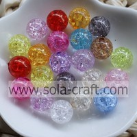 Wholesale Acrylic Crackle Cracked Beads Loose Spacer Round Crafts Beads 8-20MM