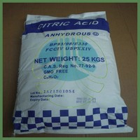 Citric acid anhydrous natural preservative, 25kg bag citric acid with Kosher and Halal