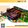 Cheap dodgeball and foam pit indoor gymnastic trampoline play structure for Sales