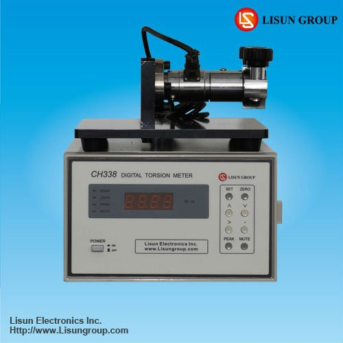 CH338 torque measuring device for testing lamp caps like E27/E26, B22d and E14/E12 with high stability