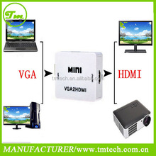1080P Audio VGA male To HDMI HD HDTV Video Converter Box Adapter For PC Laptop DVD